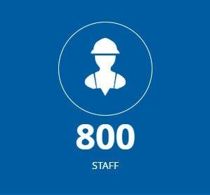 800 employee