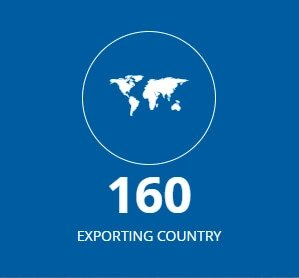 eported to 160 countries
